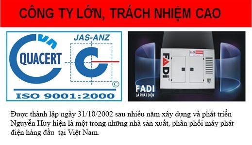 Tại sao chọn máy phát điện FADI do Nguyễn Huy sản xuất